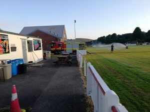 Fire engine watering pitch