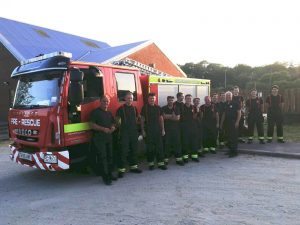 Fire Crew from Tavistock Fire Station